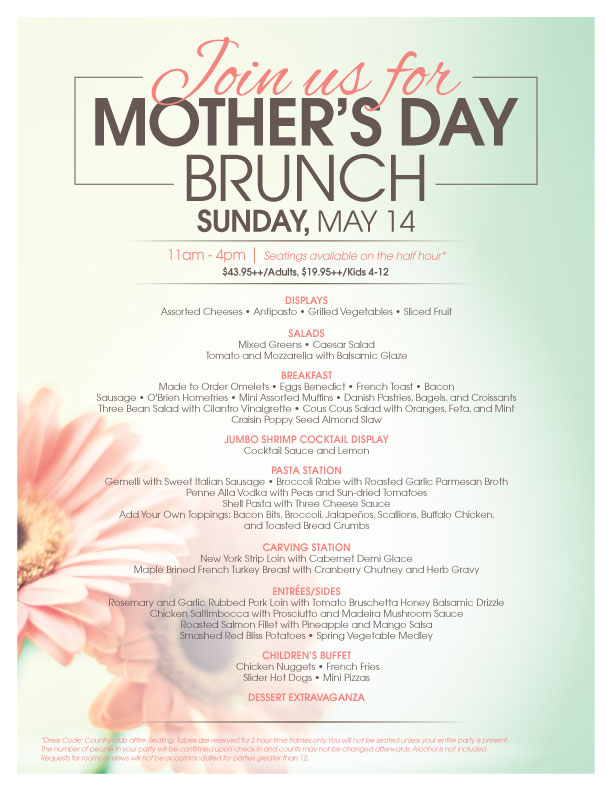 Mothers day brunch for Table 52 brunch dress code